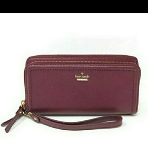 AUTHENTIC Kate Spade double zip wallet wristlet
